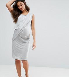 Платье с драпировкой Mamalicious Maternity - Серый Mama.Licious