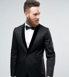 Пиджак скинни с бархатными лацканами Religion - Черный