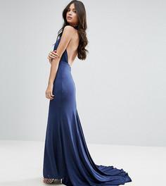 Платье макси с открытой спиной City Goddess Petite - Темно-синий