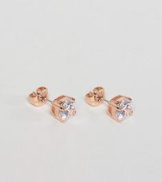 Серьги-гвоздики с круглым кристаллом Swarovski от Simon Carter эксклюзивно для ASOS - Золотой