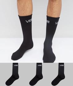 3 пары черных носков Vans VXSEBLK - Черный