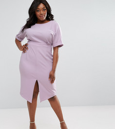 Строгое платье миди ASOS CURVE - Фиолетовый