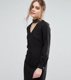 Платье мини с чокером Closet - Черный