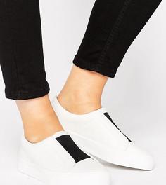 Кроссовки-слипоны для широкой стопы ASOS DAISY MAY - Белый