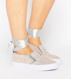 Кроссовки для широкой стопы с завязкой на щиколотке ASOS DESIRE - Мульти
