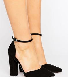 Туфли для широкой стопы на высоком каблуке с заостренным носком ASOS PENALTY - Черный