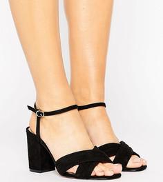 Босоножки на каблуке для широкой стопы ASOS HAZEL - Черный