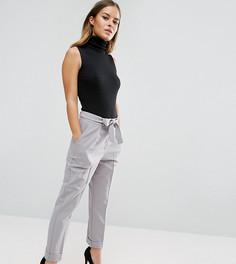 Тканые брюки-галифе с поясом оби ASOS PETITE - Серый