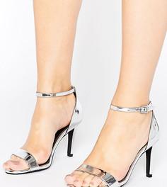 Сандалии на каблуке для широкой стопы New Look - Серебряный