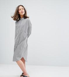 Платье-рубашка миди Monki - Белый