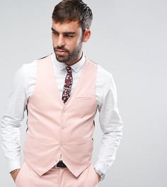 Супероблегающий жилет из хлопкового сатина Only & Sons - Розовый