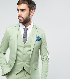 Супероблегающая куртка из хлопкового сатина Only & Sons - Зеленый