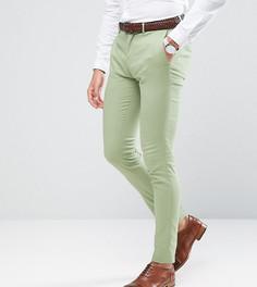Суперузкие брюки из хлопкового сатина Only & Sons - Зеленый