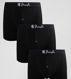Набор из 3 боксеров-брифов с пуговицами Pringle William - Черный