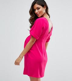 Строгое платье мини с V-образным вырезом на спине ASOS Maternity - Красный