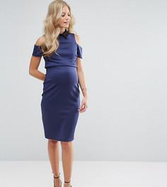 Платье с вырезами на плечах ASOS Maternity NURSING - Темно-синий