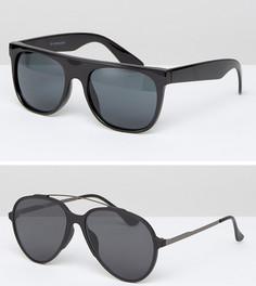 Комплект из 2 солнцезащитных очков 7X - Черный