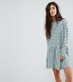 Свободное платье в полоску ASOS PETITE - Мульти