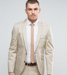 Приталенный пиджак из эластичного хлопка Selected Homme - Светло-серый