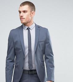 Приталенный пиджак из эластичного хлопка Selected Homme - Синий
