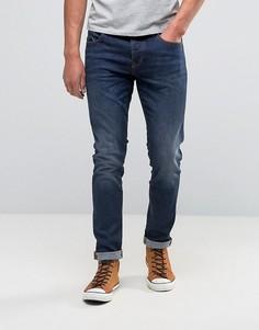 Умеренно выбеленные джинсы скинни Pretty Green Castlefield - Синий