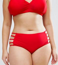 Плавки бикини с вырезами по бокам Junarose - Красный
