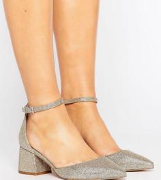 Туфли на каблуке для широкой стопы с острым носом ASOS STARLING - Золотой