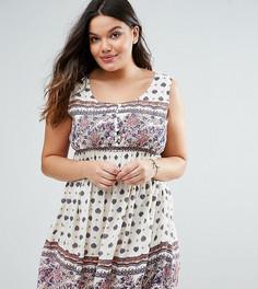 Платье с принтом Diya Plus - Мульти