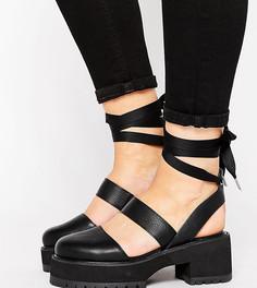 Туфли для широкой стопы на массивной подошве ASOS OBLONG - Черный