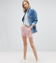 Льняные шорты в стиле casual с завязкой ASOS TALL - Розовый