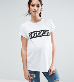 Футболка с надписью Preggers ASOS Maternity - Белый