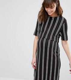 Двухслойное платье для кормления New Look Maternity - Черный