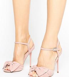 Босоножки на каблуке с узелками Office Scarlett - Розовый