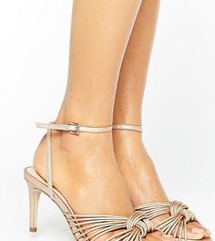 Золотисто-розовые сандалии с узелком на среднем каблуке Office Millie - Золотой