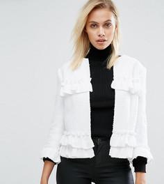 Куртка с оборками и необработанными краями Helene Berman - Белый