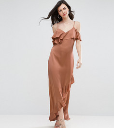 Платье макси на тонких бретельках с оборками Y.A.S. Studio Tall Fielle - Оранжевый