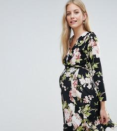 Чайное платье с цветочным принтом Queen Bee - Мульти