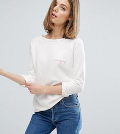 Свитшот с вышивкой Amazing эксклюзивно для Maison Labiche - Кремовый