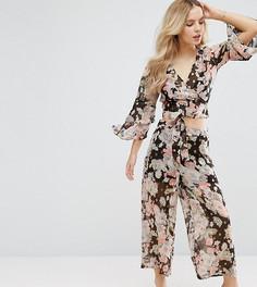 Мягкие комбинируемые брюки с цветочным принтом ASOS PETITE - Мульти