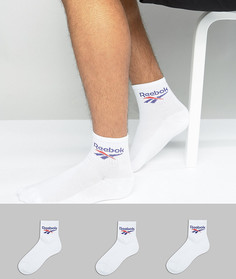 Набор из 3 пар белых носков Reebok BQ2224 - Белый