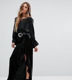 Асимметричная юбка с оборкой Rokoko - Черный
