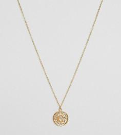 Ожерелье с инициалом С на подвеске Ottoman Hands - Золотой