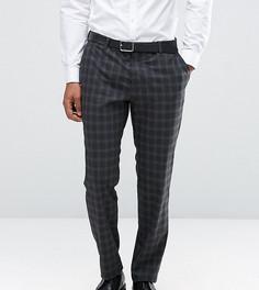 Премиум-брюки зауженного кроя в клетку Jack & Jones - Серый