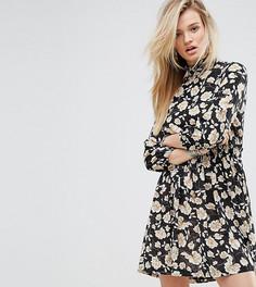 Платье с высоким воротом и цветочным принтом Missguided - Мульти