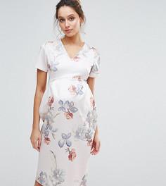 Платье-футляр с цветочным принтом Hope & Ivy Maternity - Серый