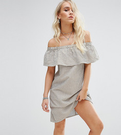 Платье мини в полоску с открытыми плечами Noisy May Petite - Мульти