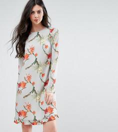 Платье с кактусами и оборкой Y.A.S Tall - Мульти