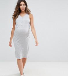 Платье миди Mamalicious Maternity Nursing - Серый Mama.Licious