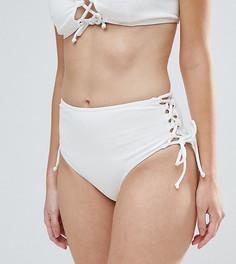 Фактурные плавки бикини Peek & Beau - Белый