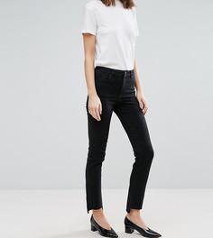 Черные прямые джинсы с асимметричными краями ASOS TALL - Черный